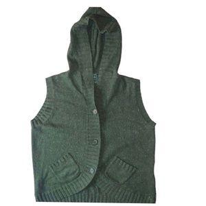 Vtg Woolrich Confetti Angora Knit Sweater Vest L